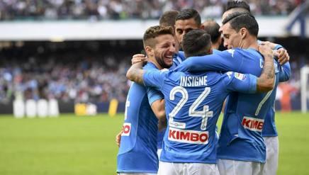 Festa Napoli dopo il secondo gol al San Paolo. Ansa