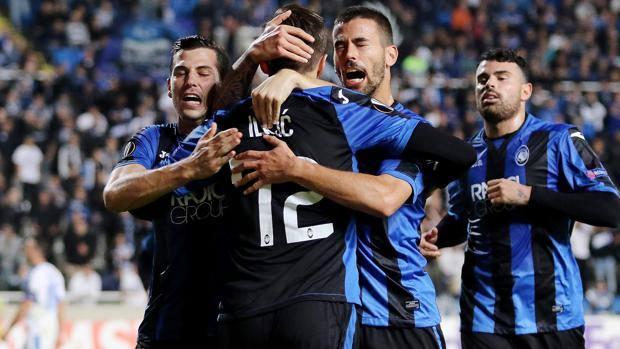 L'esultanza dopo il gol di Ilicic. AFP