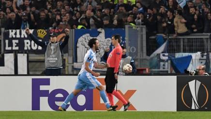 Parolo esulta dopo il gol dell1-0. Afp