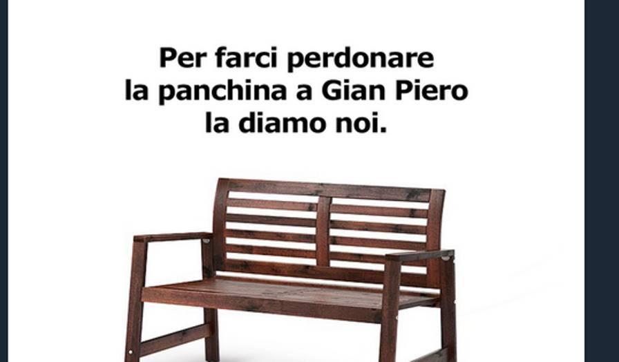 Social ikea sfotte l 39 italia la panchina a - Sito ufficiale ikea ...