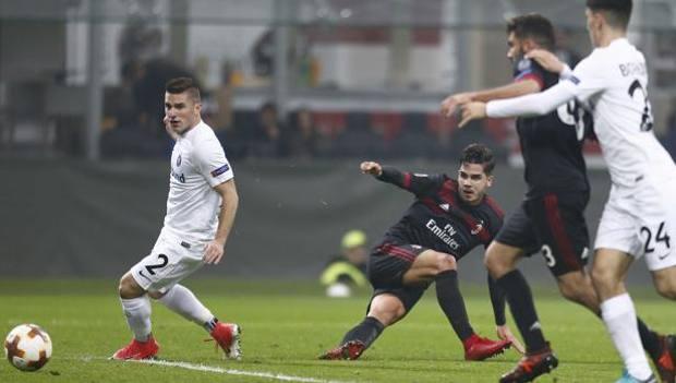 Il secondo gol di André Silva. LaPresse