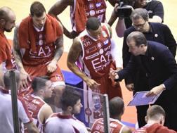 L'Olimpia Milano con coach Pianigiani CIAMILLO