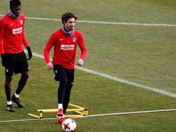 Vrsaljko in allenamento a Madrid. LaPresse