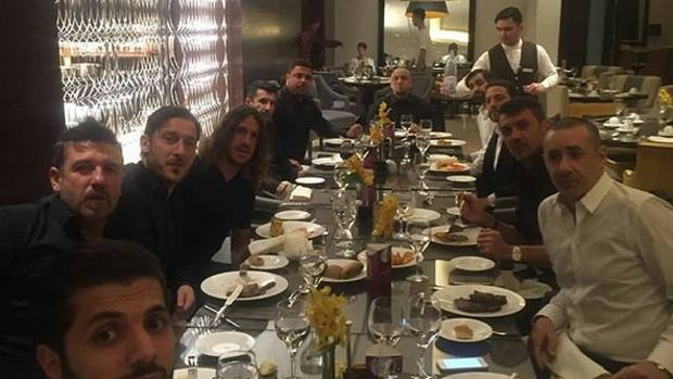 La foto postata da Totti sui suoi profili social.