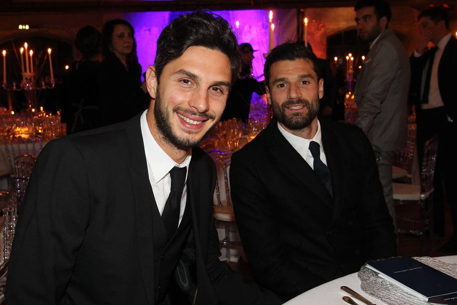 Andrea Ranocchia e Antonio Candreva. Getty