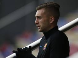 Gerard Deulofeu in un allenamento col Barça. Ap