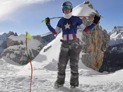 Lindsey Vonn ieri a Cortina. Afp