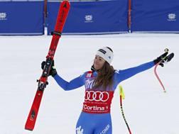 Sofia Goggia, ieri vincitrice. Oggi per lei delusione e un grande rischio