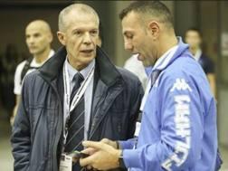 Il d.t. Pierluigi Aschieri con il coach azzurro Savio Loria