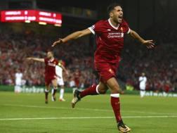 Emre Can, 24 anni, con la maglia del Liverpool.