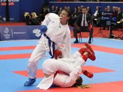 L'immagine della proiezione non assegnata a Sara Cardin nella finale per il bronzo