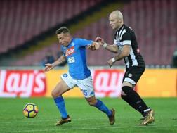 Giaccherini in azione con la maglia del Napoli Getty