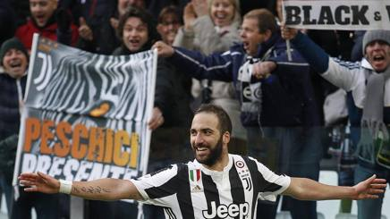 Gonzalo Higuain, attaccante della Juventus da luglio 2016. LaPresse