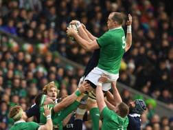 Devin Toner in touche. Afp