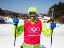 German Madrazo, 43 anni, a PyeongChang. Afp