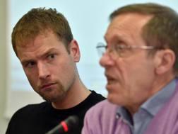 Alex Schwazer,  33 anni, con il tecnico Sandro Donati ANSA
