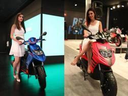 I due nuovi modelli dell'Aprilia, l'SR e lo Storm