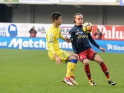 Un momento del match tra Chievo e Genoa. Getty