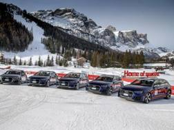 Le cinque Audi RS 4 Avant protagoniste della gara