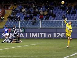 Il gol di Zapata all'Udinese.