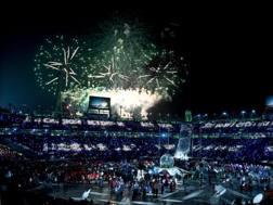 Fuochi d'artificio nella cerimonia di chiusura. Epa
