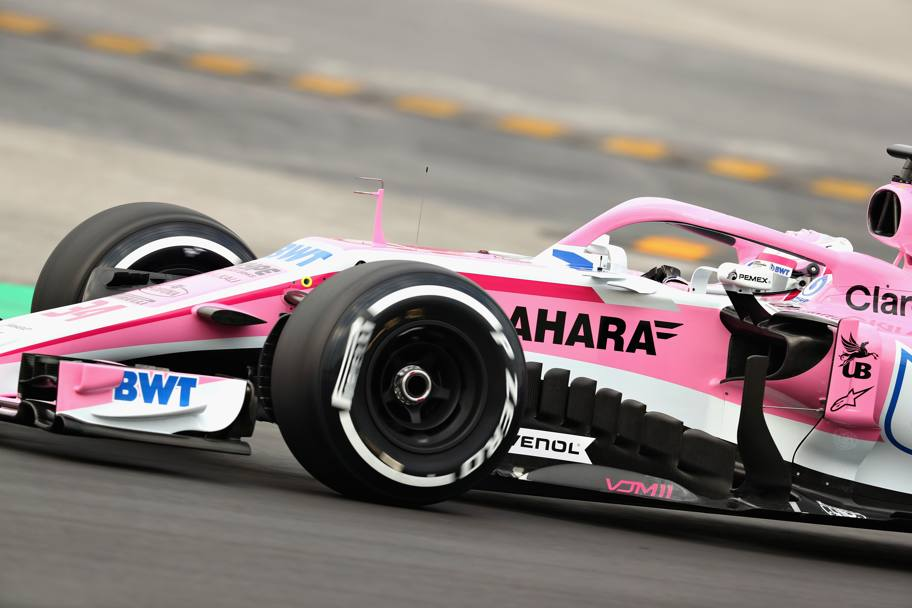 I primi giri in pista per la Force India. Getty