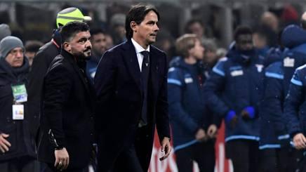 Rino Gattuso e Simone Inzaghi. Afp