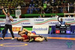 La finale 2017 della categoria 96 kg juniores tra Riccomini e Iannattoni Metadatare fighting/lotta