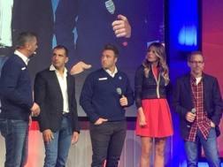 Vanzini, Gené, Valsecchi, Masolin e Villeneuve allo show di Sky