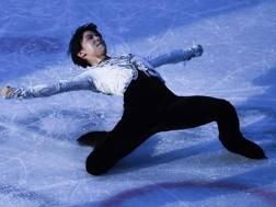 Yuzuru Hanyu, 23 anni, durante il Gala olimpico AFP