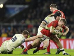 L'apertura del Galles Gareth Anscombe contro l'Inghilterra AP
