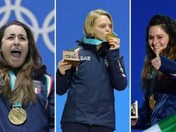 Sofia Goggia, Arianna Fontana e Michela Moioli