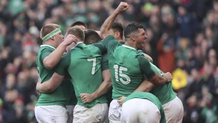 Un momento di esultanza dell'Irlanda. Ap