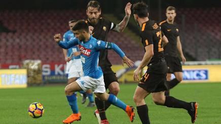 Lorenzo Insigne, 26 anni, 7 gol in campionato. Ansa