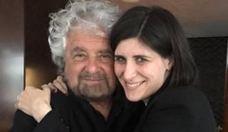 Beppe Grillo e la sindaca di Torino, Chiara Appendino. Ansa