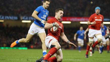 Il gallese George North in meta. Getty Images