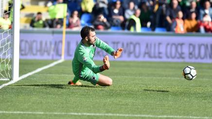 Emiliano Viviano, portiere della Sampdoria. LaPresse