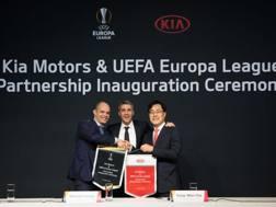 Anche Hernan Crespo testimonial dell'accordo Kia-Uefa