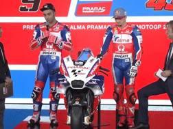 Danilo Petrucci e Jack Miller con la nuova Ducati Pramac MotoGP