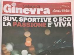 La copertina dello Speciale Gazzetta sul Salone di Ginevra