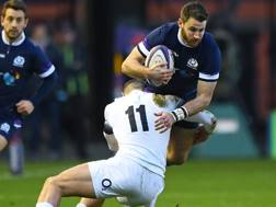 Tommy Seymour contro l'Inghilterra. Afp