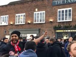 Tifosi rossoneri a Londra