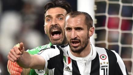Gigi Buffon, 40 anni, e Giorgio Chiellini, 33. Getty