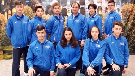 Alcuni dei 28 azzurri che parteciperanno al Belgian Open