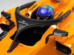 L'halo sponsorizzato della McLaren