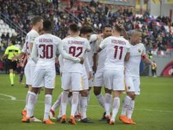 La Roma festeggia la 6ª vittoria nelle ultime 7 partite. laPresse