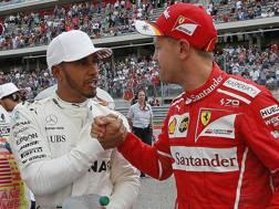 Lewis Hamilton e Sebastian Vettel, i favoriti per il titolo 2018. Ap