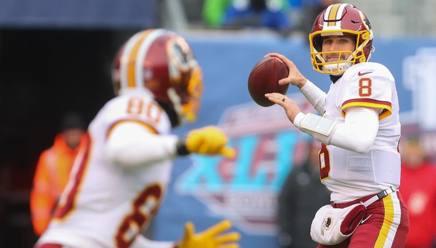 Kirk Cousins, in maglia Washington Redskins. Il quarterback ha firmato con Minnesota un garantito per 3 anni a 84 milioni di dollari AFP