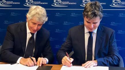 Il presidente del Credito Sportivo, Andrea Abodi, e il presidente Fita, Angelo Cito