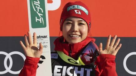 Sara Takanashi, 21 anni, nipponica. Afp